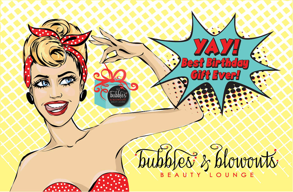 Bubbles & Blowouts - Birthday Gift Card