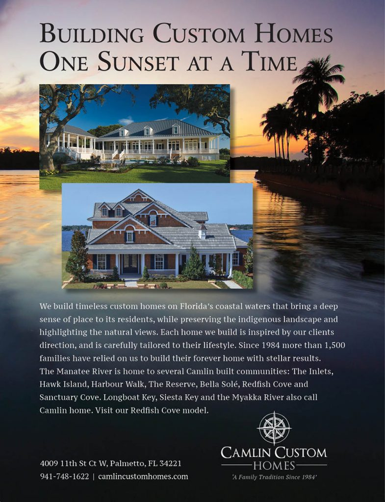 Camlin Custom Homes Sarasota Magazine Ad