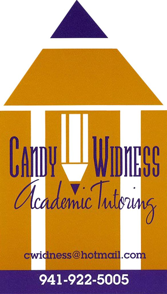 Candy Widness Tutor Business Card