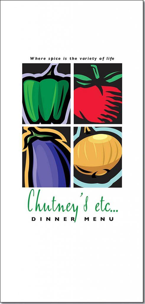 Chutney's Dinner Menu