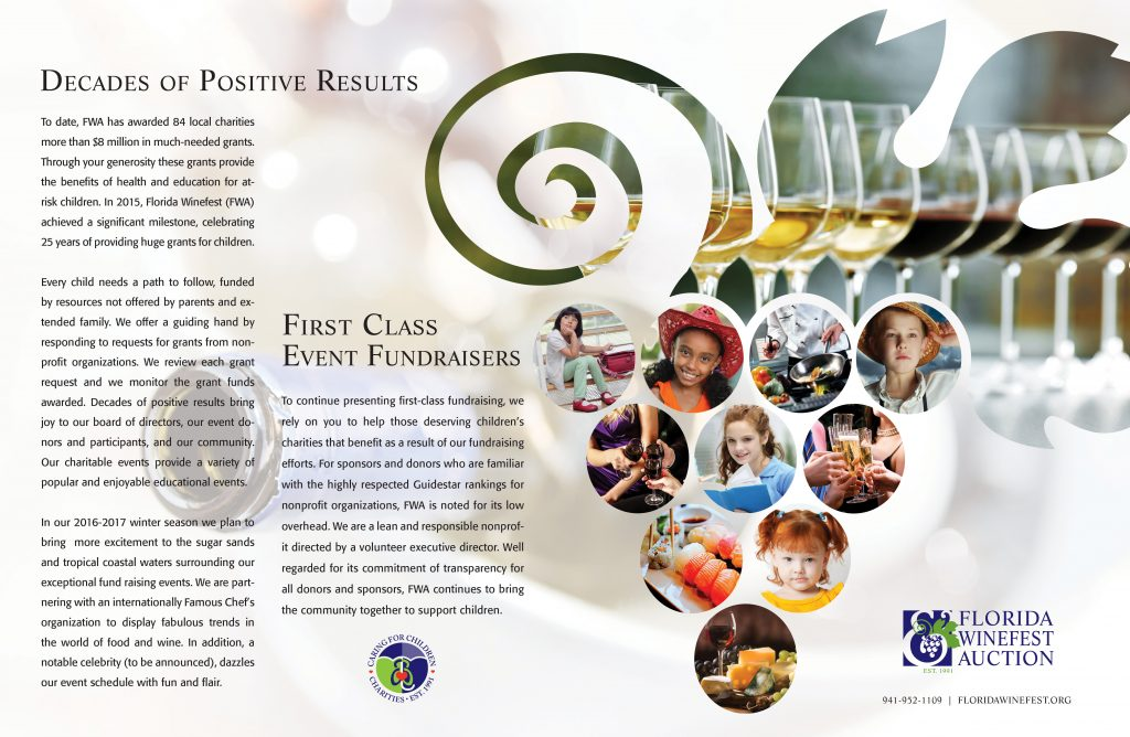 Florida Winefest and Auction - Fundraising Brochure