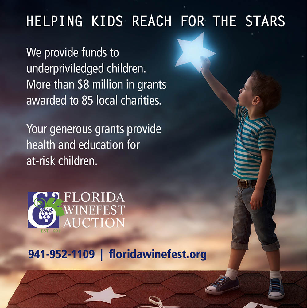 Florida Winefest & Auction Reach for the Stars Ad