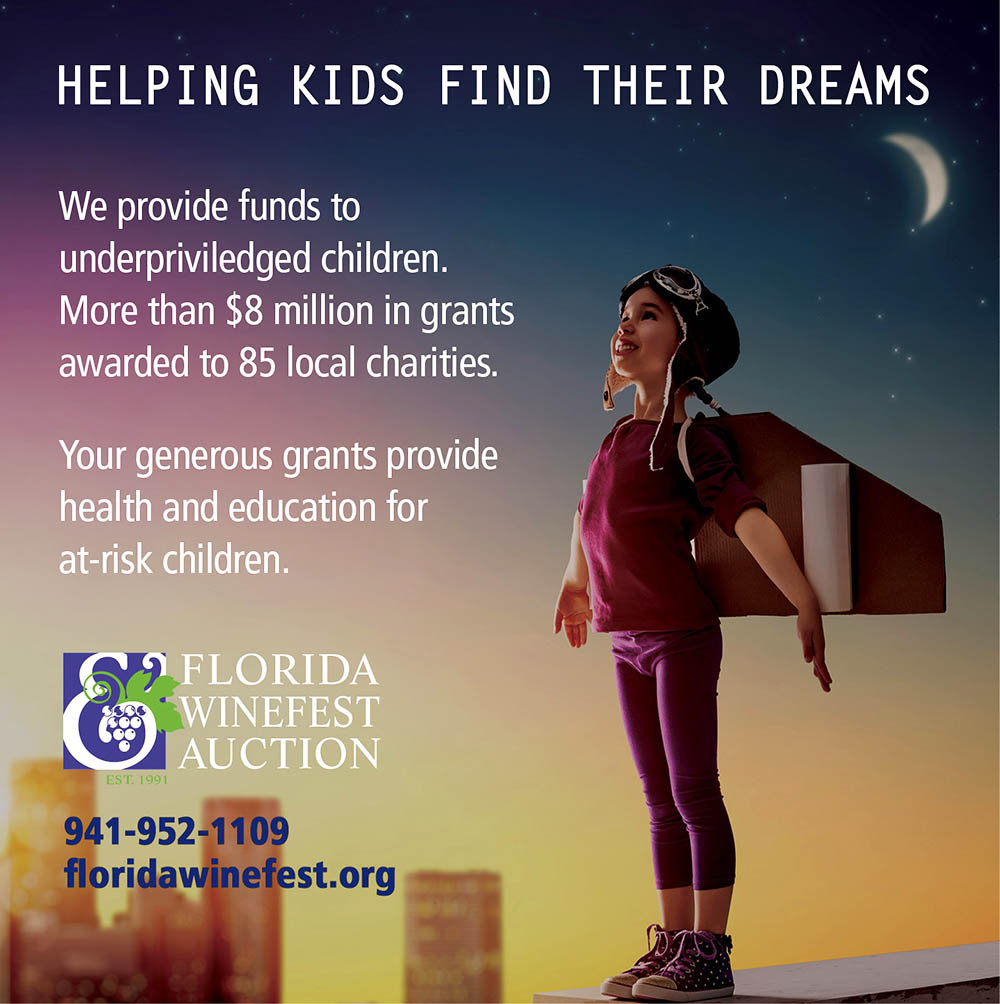 Florida Winefest & Auction Superkids Ad