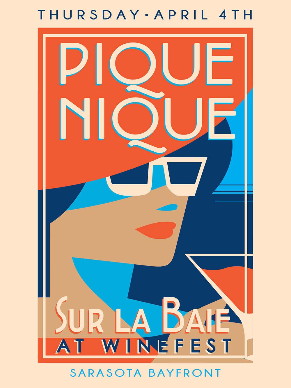 Sarasota Winefest Pique Nique - Poster