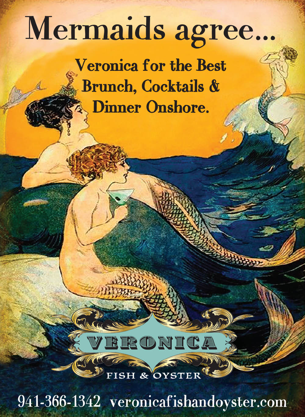 Veronica Fish & Oyster - Ad