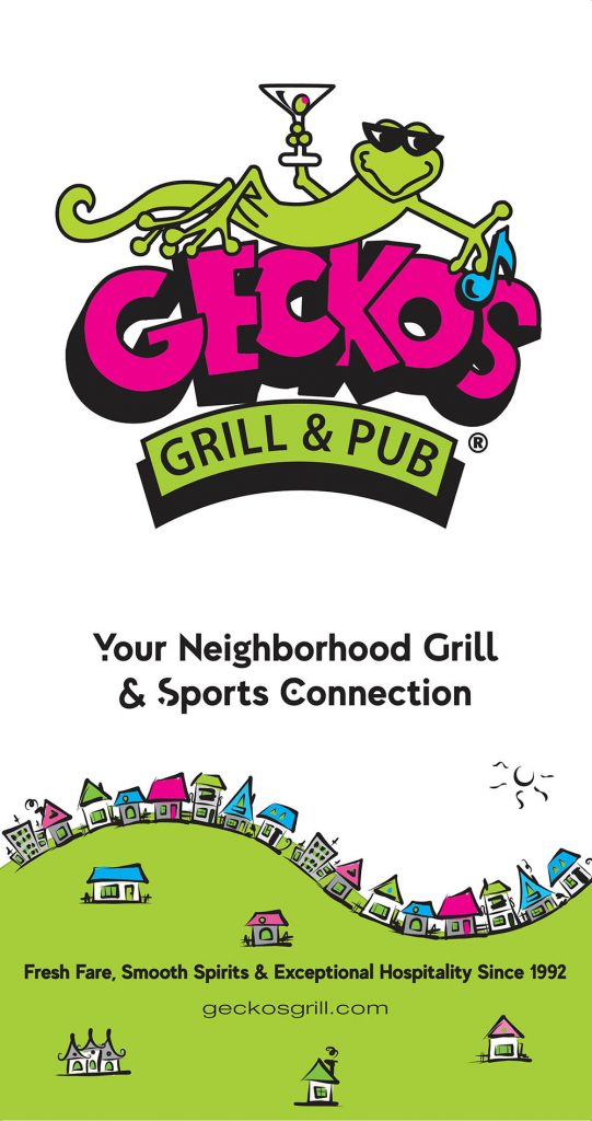 Geckos Grill and Pub Menu