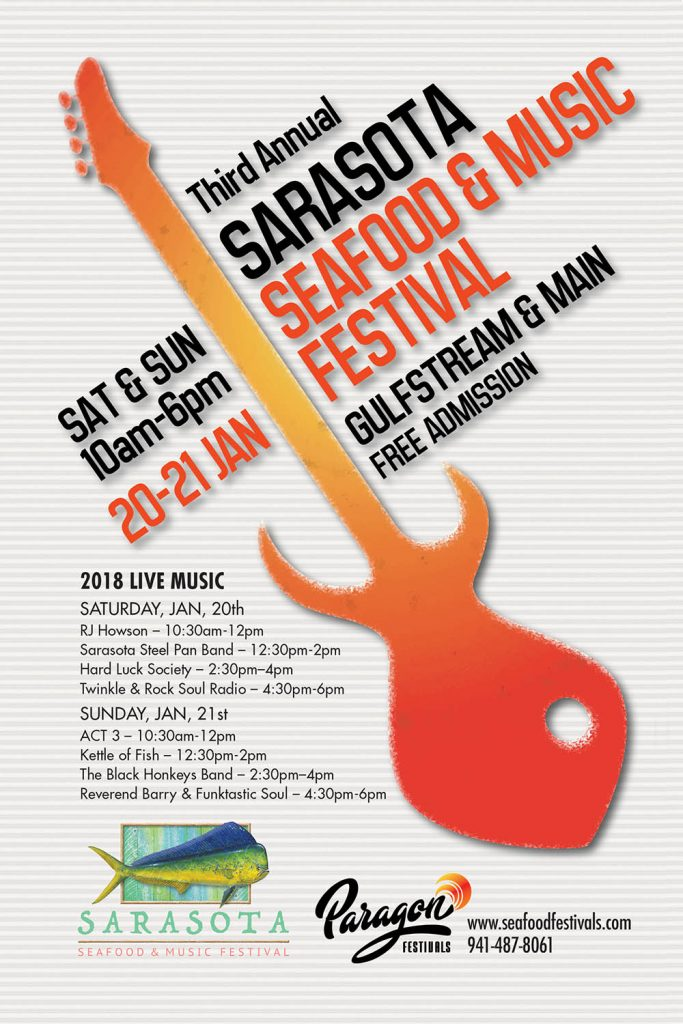 Sarasota Seafood Music Festival - Poster