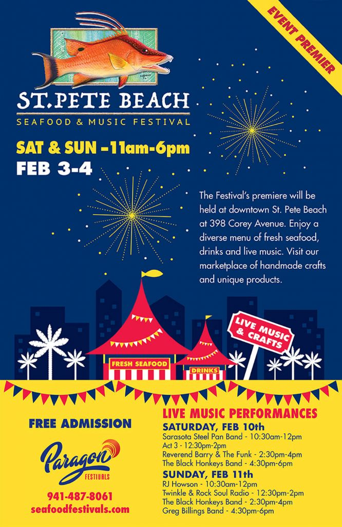 St. Pete Beach Seafood Music Festival - Poster