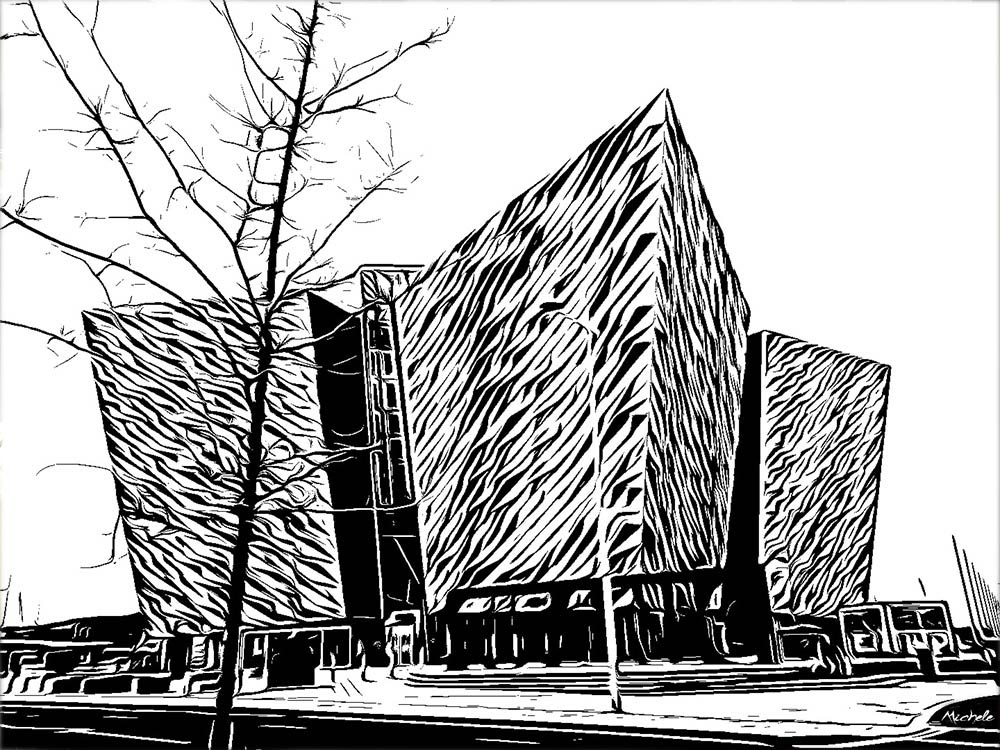 Titanic Museum - Pen and Ink