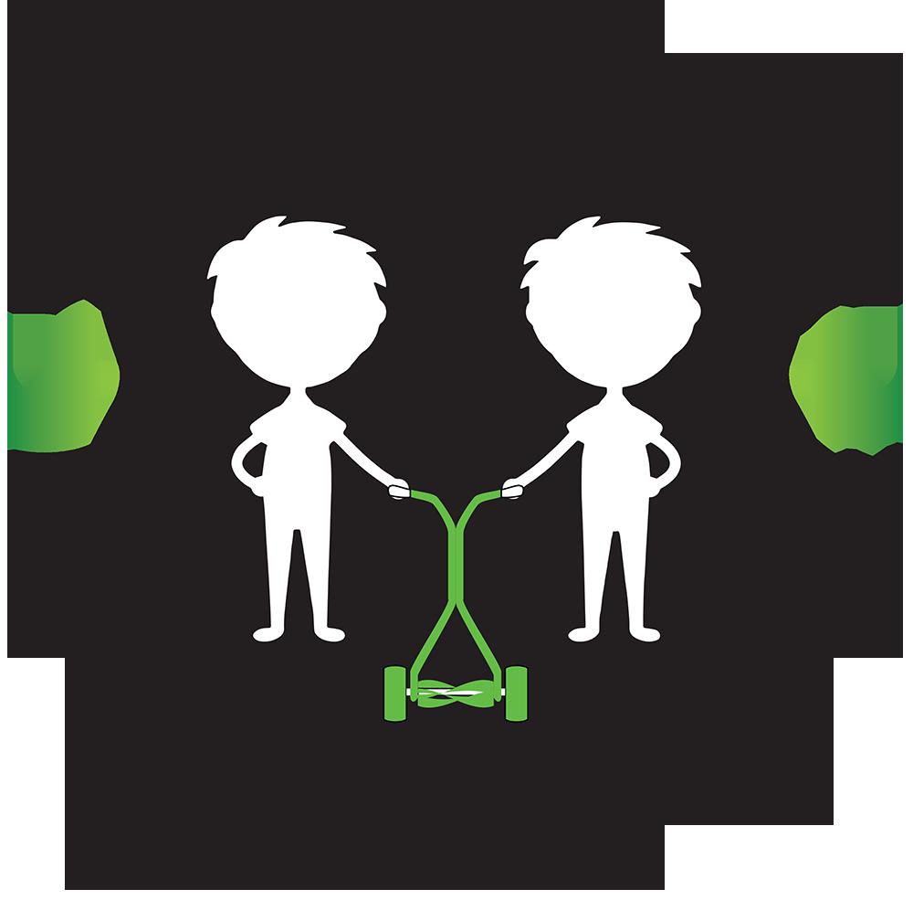 Twin Boys Lawn Service Logo