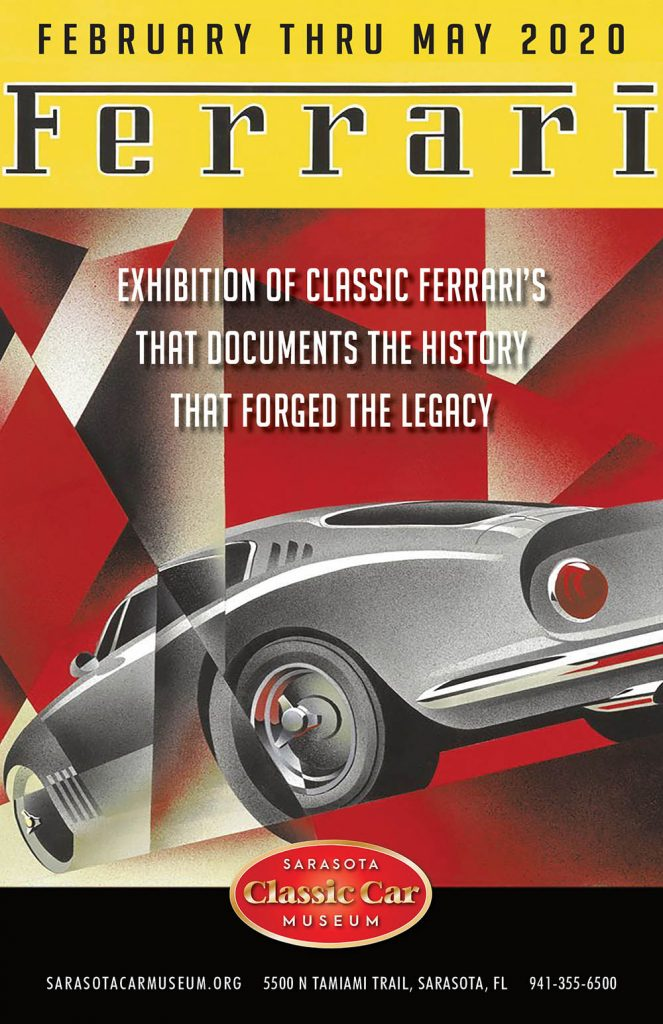 Sarasota Classic Car Museum - Ferrari Exbihition Poster