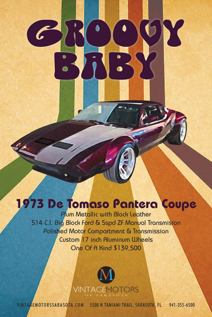 Vintage Motors - 1973 Pantera De Tomaso Coupe SCM Ad