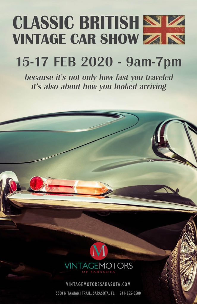 Vintage Motors - British Car Show Poster Feb 2020